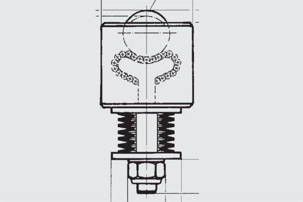 Gefederte Schwerlast-Kugelrolle - FR00-045