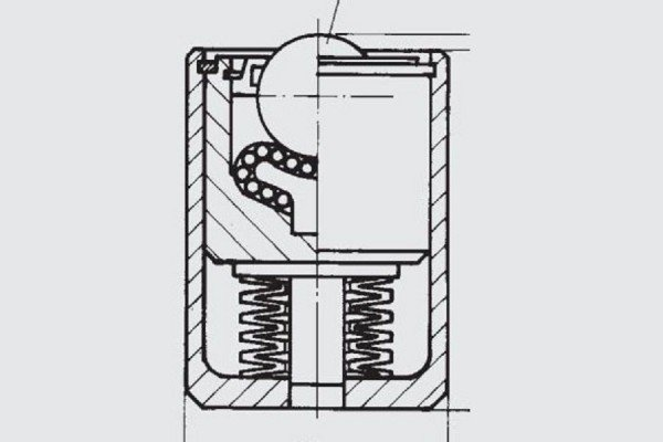 Gefederte Schwerlast-Kugelrolle - FR01-050
