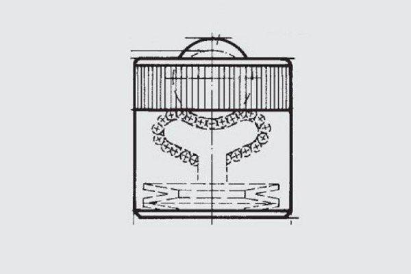 Gefederte Schwerlast-Kugelrolle - FR01-025