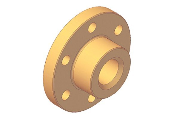 Trapezgewindetriebe - Einbaufertige Rotguss-Flanschmutter - kurz - QFMK24x5R7